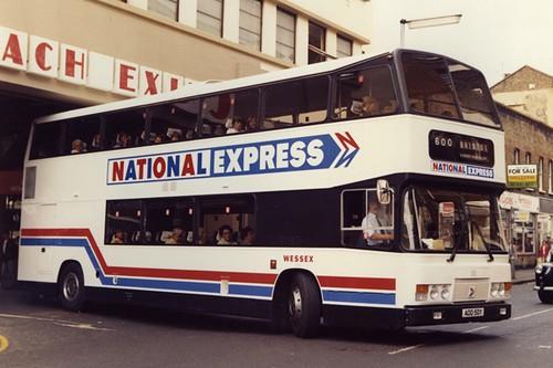 Wessex ECW Leyland Olympian Prototype National Express Double Deck Coach ADD 50Y