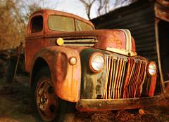 Soul Survivor (steverichard) Tags: auto usa color colour abandoned car wheel america truck vintage georgia photo rust image decay rusty pickup tire f150 front oxidation vehicle grille tyre junker murrayville steverichard