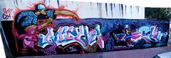 Pano Calle Artigas esq Montevideo (Mariano Fernandez / El Lolo) Tags: blanco argentina graffiti negro cordoba rosas gotcha observatorio personajes azules artigas seatuno cordobagraffiti losmuralistas