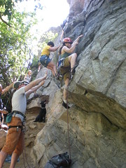 Clare Leading at Canal Zone, Clear Creek Canyon