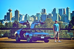 DeLorean C 01 (andy6white) Tags: roof urban canada blur skyline vancouver back nikon focus downtown doors bc zoom bokeh top gull aaron north cement wing future doc distance delorean f28 aw dmc backtothefuture mcfly d300 1755mm andywhite andy6white aemw