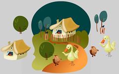 O koblku - inconpleteness (Amlka) Tags: road tree home window way duck dirty goose donut blackbird