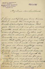 A letter written to E. J. Seelbach from F. R. Wendemuth