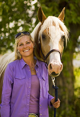 two blonds (pine tar) Tags: portrait horse girl smile animal rural hair montana blonde cowgirl equestrian beautifulgirls equine farmgirl walkinghorse horsewomen countrygirl tennesseewalkinghorse gaited prettywomen nikond200 gaitedhorse mountana countrywomen montanahorses montanawomen