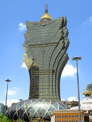 Grand Lisboa, Macau (thewamphyri) Tags: building skyscraper gold lisboa casino macau macao  casinolisboa  hotellisboa grandlisboa over400views