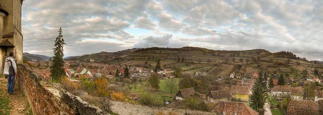 View on the village Biertan