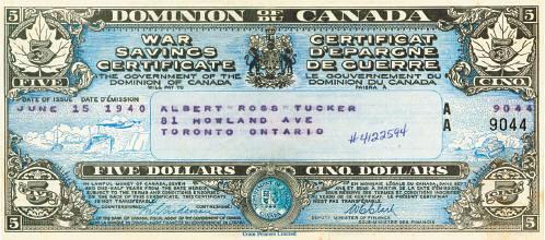 Canada War Savings Certificate
