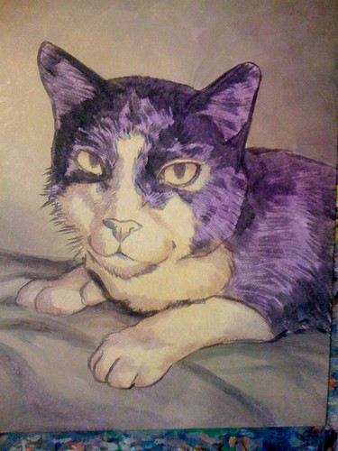 Henry the Cat Painting - 1