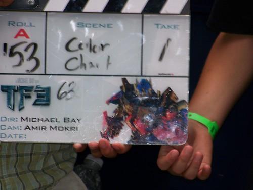 Transformers 3 clapboard