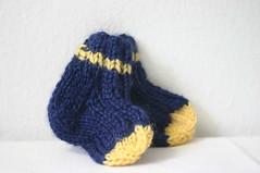 Notre Dame baby socks