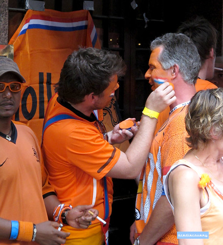 Holland football fans, London