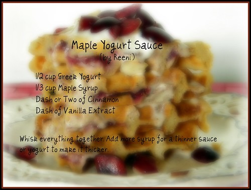 Maple Yogurt Sauce Recipe