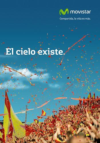 Anuncio de Movistar conmevorando la victoria de España en el Mundial de fútbol de 2010