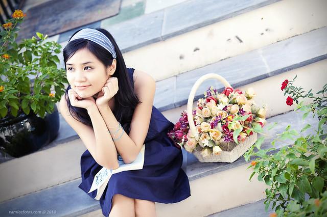 Chụp hình chân dung model Mai Vy