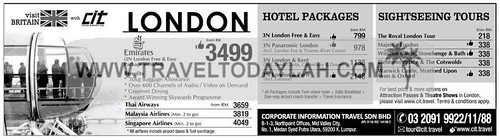 London hotel and sightseeing tour packages