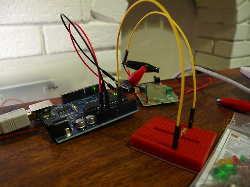 Testing connecting Arduino to doorbell