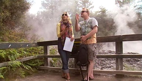 Family Travel Expert and On Camera Travel TV Personality Julia Dimon goes Geocaching in New Zealand