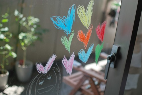 drawing on window
