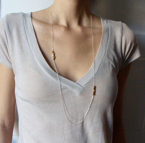 DRAPING GOLD DROPS NECKLACE