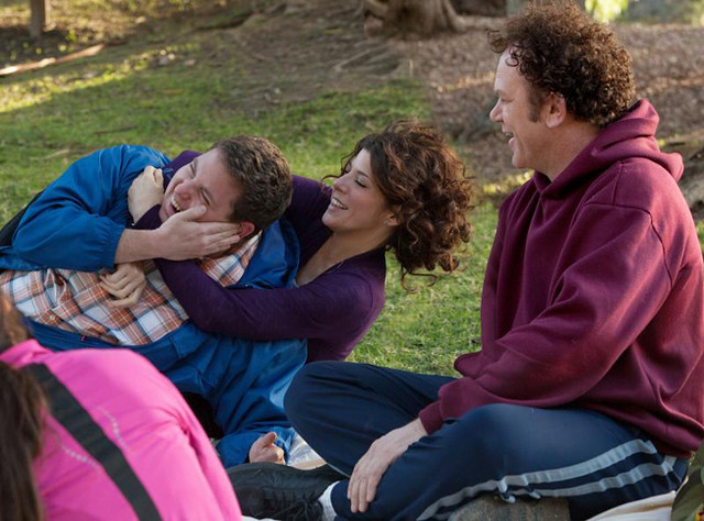 (L-R) Jonah Hill, Marisa Tomei, and John C. Reilly are in the weirdest love triangle in 'Cyrus'.
