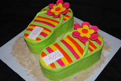 Flip Flops for Alexis (SweetTpieS) Tags: alexis cake sand luau flipflops