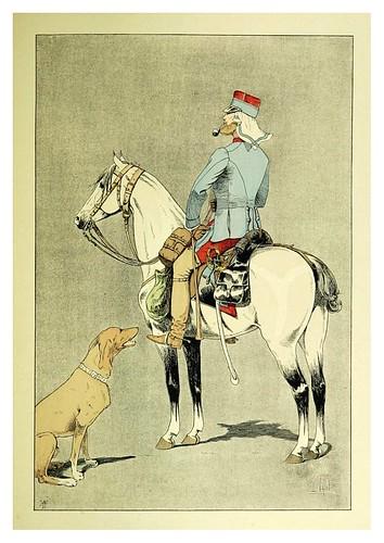029-Oficial del 9º de cazadores en columna en el Sur de Oran 1881-Le chic à cheval histoire pittoresque de l'équitation 1891- Louis Vallet