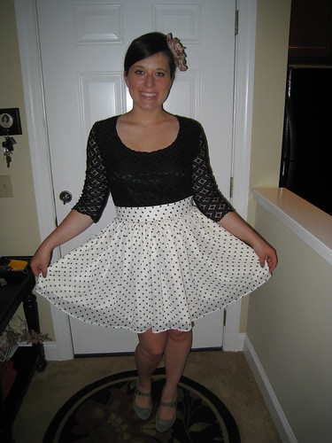 polkadots and lace
