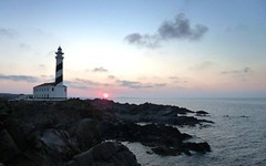 Faro Favaritx Lighthouse Sunset (Sir Francis Canker Photography ) Tags: trip travel light sunset sea vacation panorama espaa sun mer lighthouse seascape tourism sol landscape faro island islands soleil mar nice spain mediterranean mediterraneo mare view shot artistic dusk unique gorgeous dramatic visit tourist best vista farol sole visiting ever far deniz phare rare menorca leuchtturm baleares mahon ciutadella minorca lucena iles balearic kulesi morska   arenzano fener  isole macarella majk latarnia macarelleta canker sirfranciscankerjones    tz10 zs7  pacocabezalopez