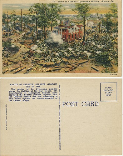 POSTCARD: Battle of Atlanta
