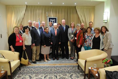 OSU President Ray in Israel