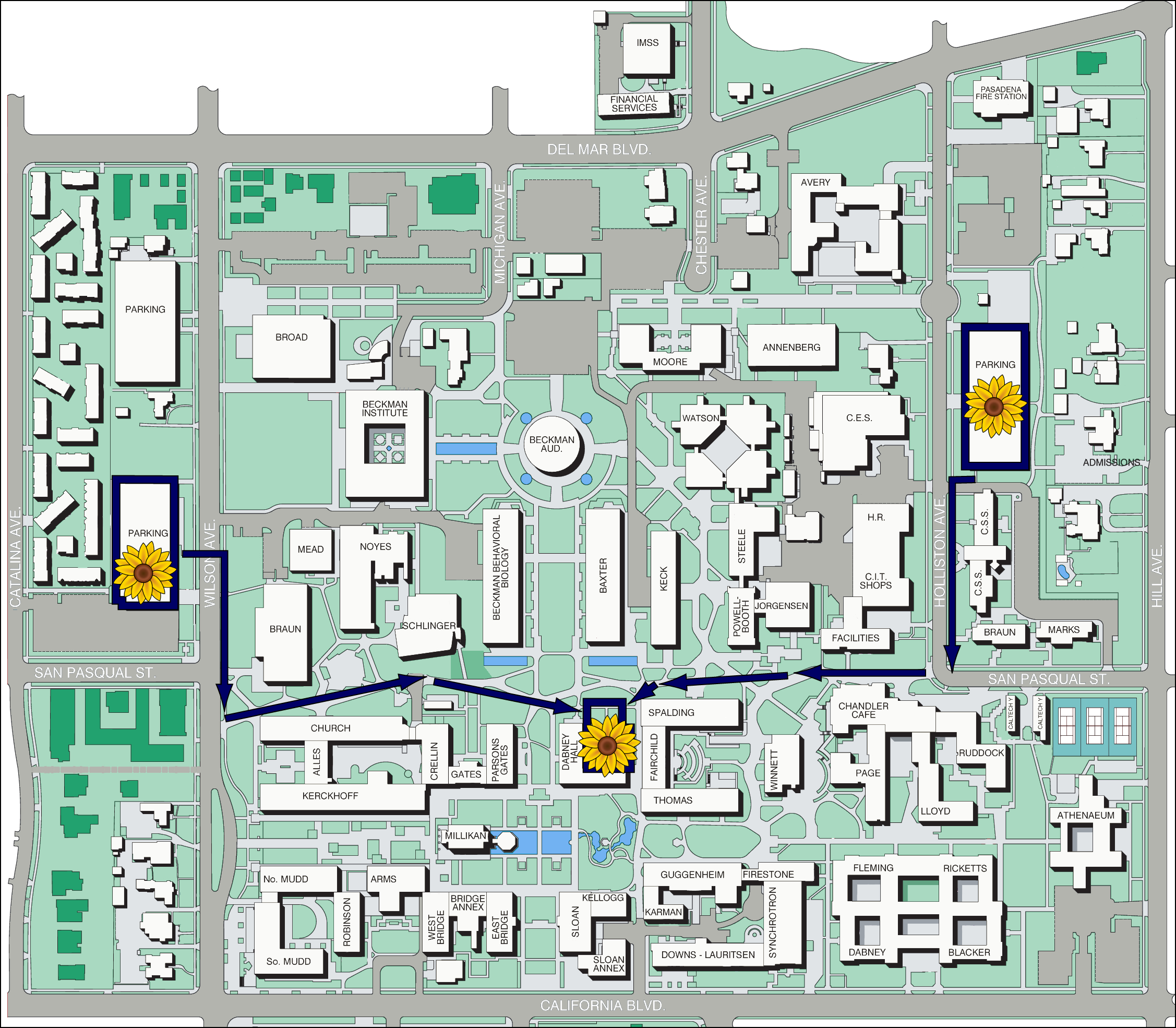 Cody and Suvi's Wedding: Maps and Directions Caltech Map on