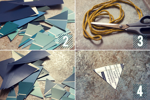 DIY | Paint Sample Garland
