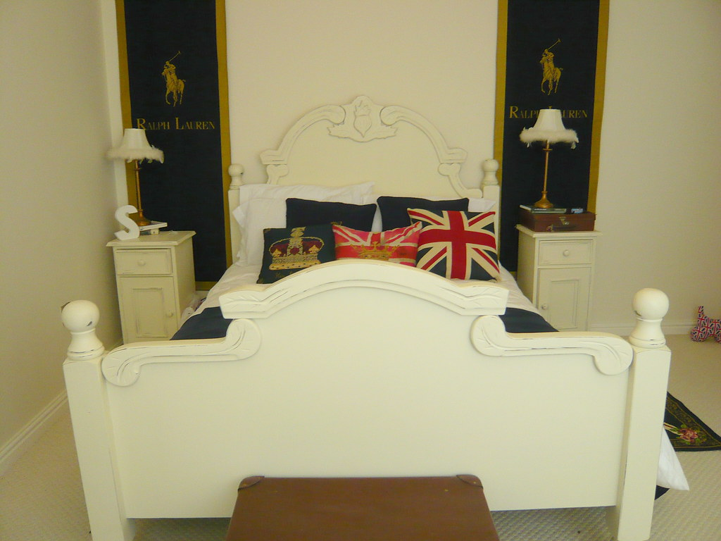 Ornate french  / Ralph Lauren style bed