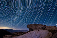 Soaring Above Borrego Springs (DanB.) Tags: longexposure camping night stars evening rocks dusk valley granite anzaborrego culp polaris northstar borregosprings anzaborregodesertstatepark culpvalley startrail exposurestacking