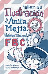 Cartel, Taller de ilustración en Chiapas! (Anita Mejia) Tags: cute girl illustration cat poster type letter ilustracion cartel postman chocolatita anitamejia