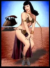 "STAR WARS : Bettie Page in ""The Metal Bikini Strikes Again!"" (DarkJediKnight) Tags: starwars humor betty page leia bettie slave returnofthejedi metalbikini"
