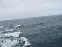 Ship wake (c_nilsen) Tags: ocean cruise sky water clouds digital waves ship atlanticocean digitalphoto queenmary2 cunard