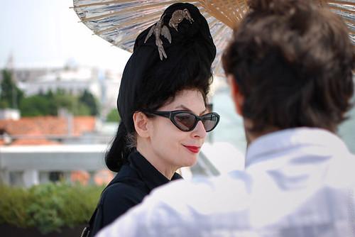 Diane Pernet at Ca' Giustinian