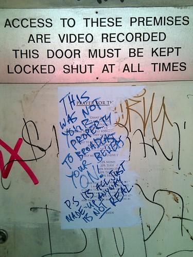 God vs graffiti vs property rights vs drippy markers, Soho, London, UK.jpg