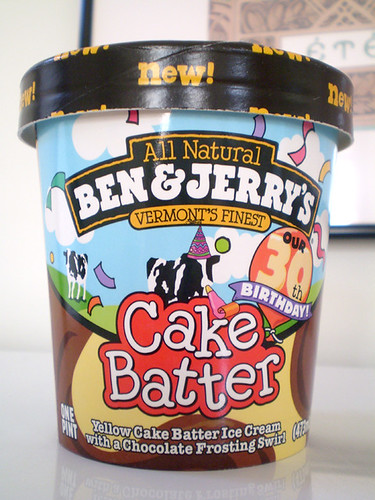 2008 Ben Jerrys 30th Birthday Cake Batter Ice Cream Container