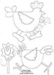 Galinhas lindasss (Luciana de Campos) Tags: galinhas riscos moldes aplicao patchcolagem