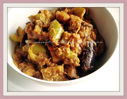 Eggplant with Bellpepper curry