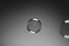 Day 45.1 - Sphere (Crooka) Tags: white black surface blow sphere bubble tension