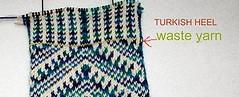 Blue zilboorg socks ヒール #1