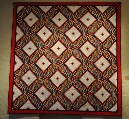 postage stamp quilt SMofA quilt show 2010