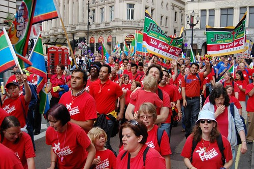 Jesus Army London Day 2010 - red march