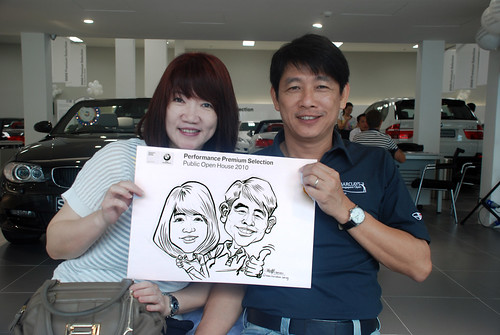 Caricature live sketching for Performance Premium Selection BMW - Day 4 - 8
