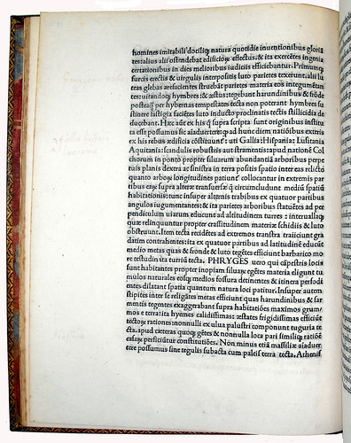 Page of Text with Annotation from 'De Architectura'