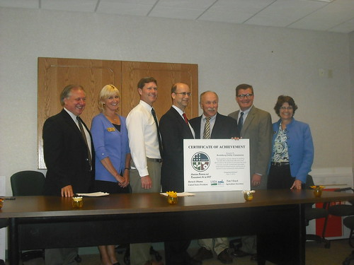 Stan Gruszynski, USDA Rural Development State Director;  Kim Cates, Office of U.S. Senator Kohl; Congressman Ron Kind; Utilities Administrator Adelstein; Dave Mikonowicz, Reedsburg Utility Commission General Manager; Mark Meyer, Wisconsin Public Service Commission; Katie Crawley, Office of U.S. Senator Feingold.