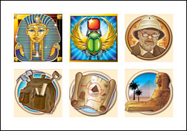 free Pharaoh's Tomb slot game symbols